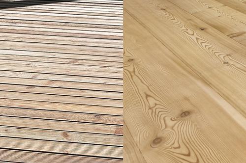 larice per pavimenti decking